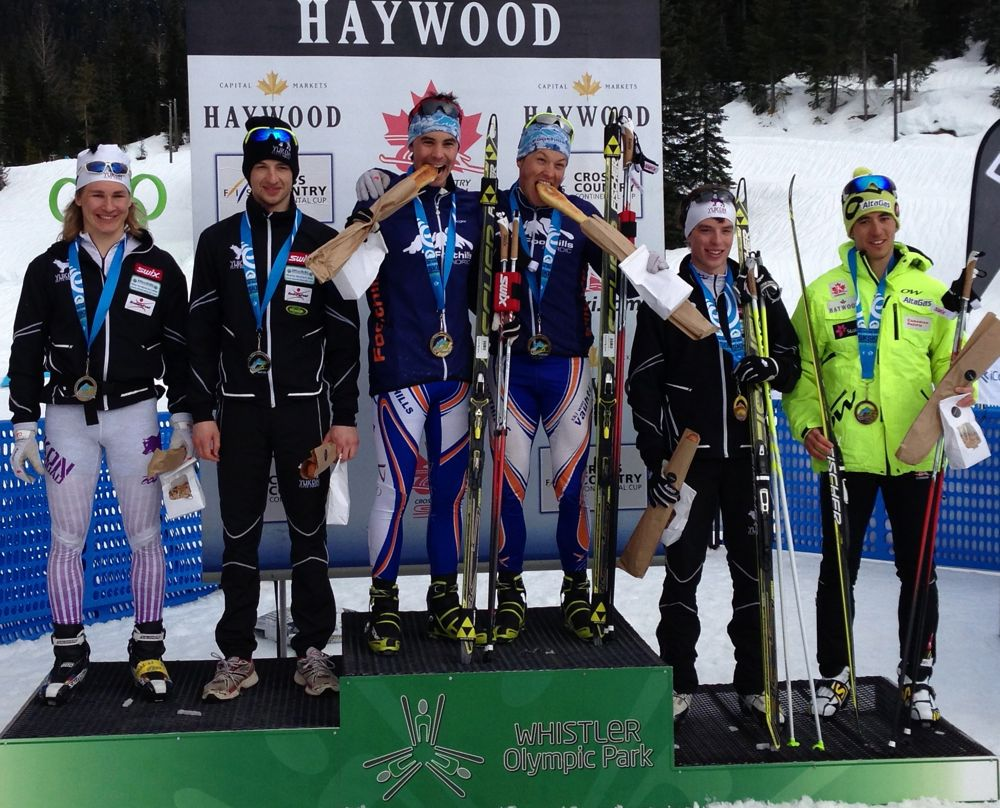 Foothills Nordic team sprint victory