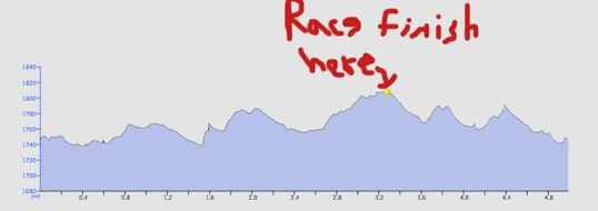 The relay course profile, with my addes thoughts.